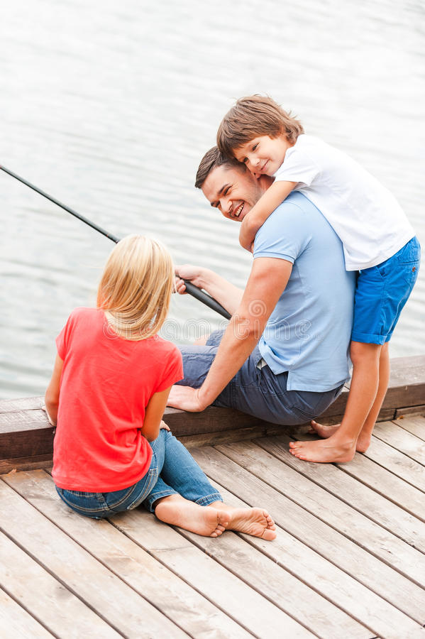 Spending great time together. stock photography
