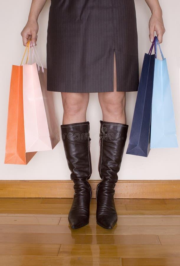 Spending spree stock photo