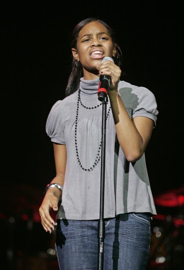 Spensha Baker Performs in Concert stock photos
