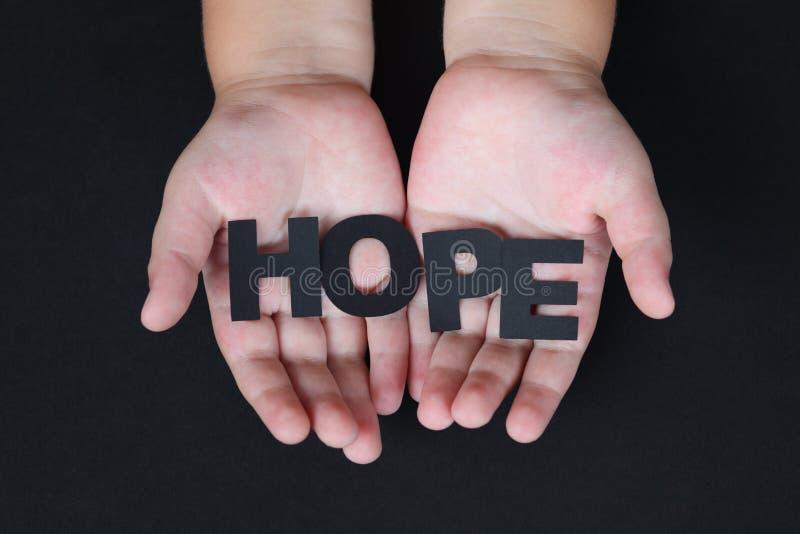Speranza dei bambini fotografia stock