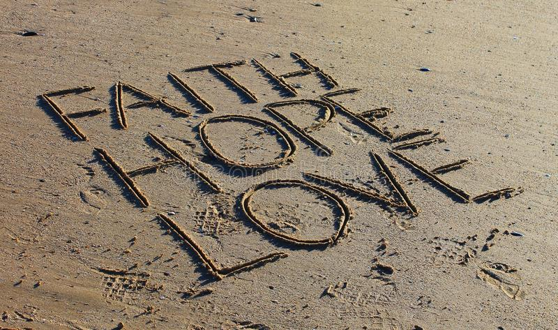 Speranza di amore di fede fotografie stock libere da diritti