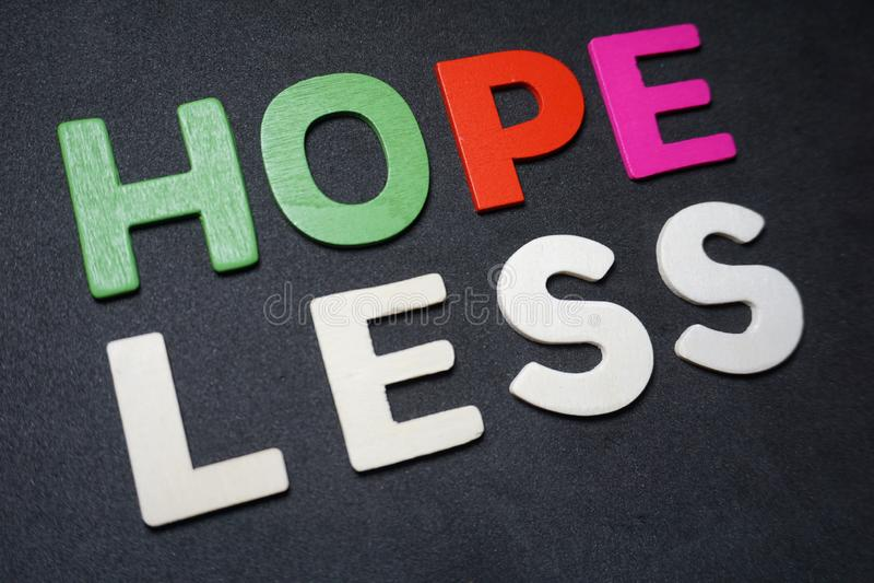 Speranza più di meno fotografia stock