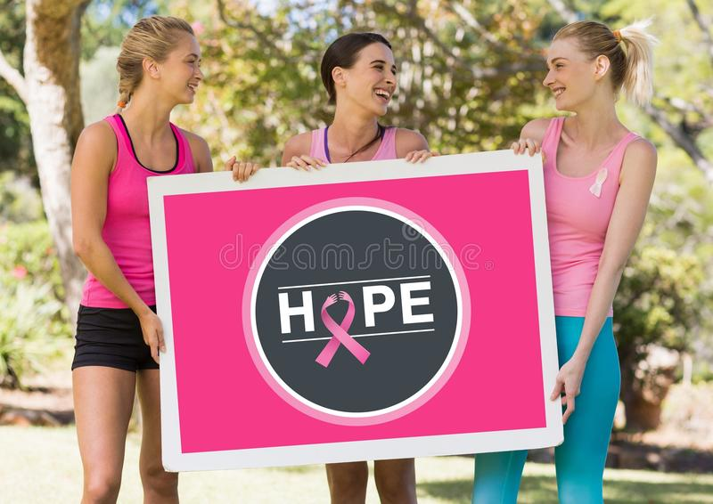 Simbolo di consapevolezza del cancro al seno