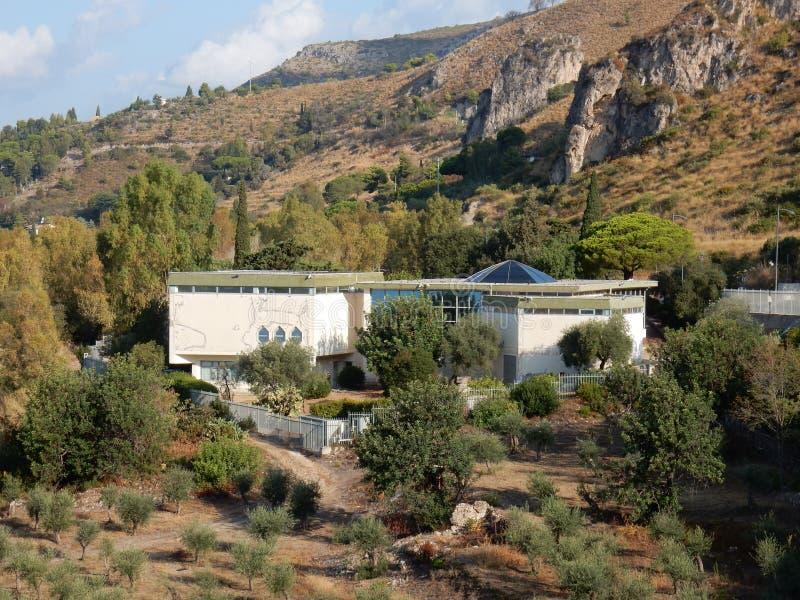 Sperlonga - Archeologiczny muzeum od Ulysses śladu fotografia stock