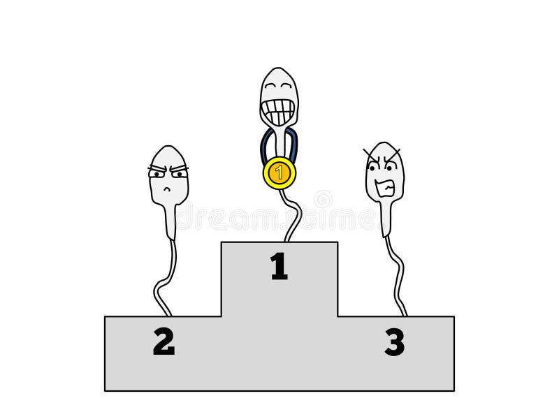 Spermawinnaar vector illustratie