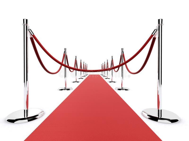 Sperre des roten Teppichs stock abbildung