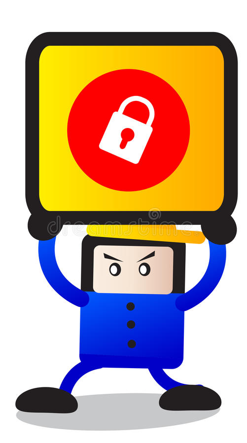 Sperren Sie Ikone lizenzfreie abbildung