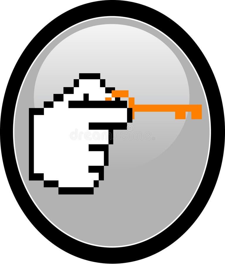 Sperren Sie oder entsperren Sie Site-Taste lizenzfreie abbildung