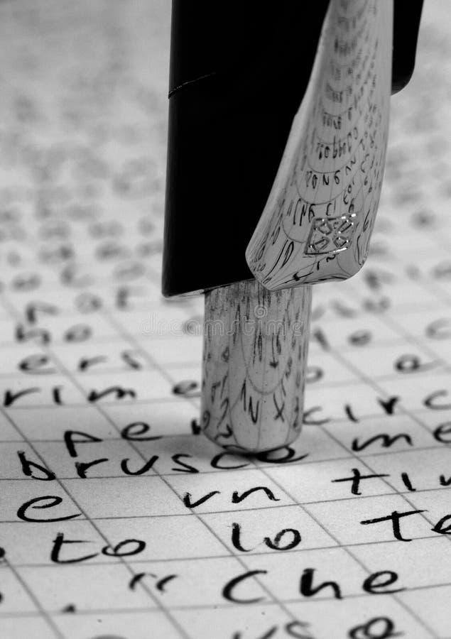 Sperren Sie Schreiben ein lizenzfreies stockbild