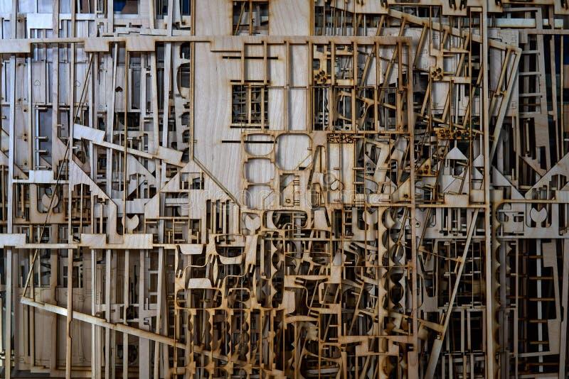 Sperrholz geschnitten durch Laser lizenzfreie stockfotos
