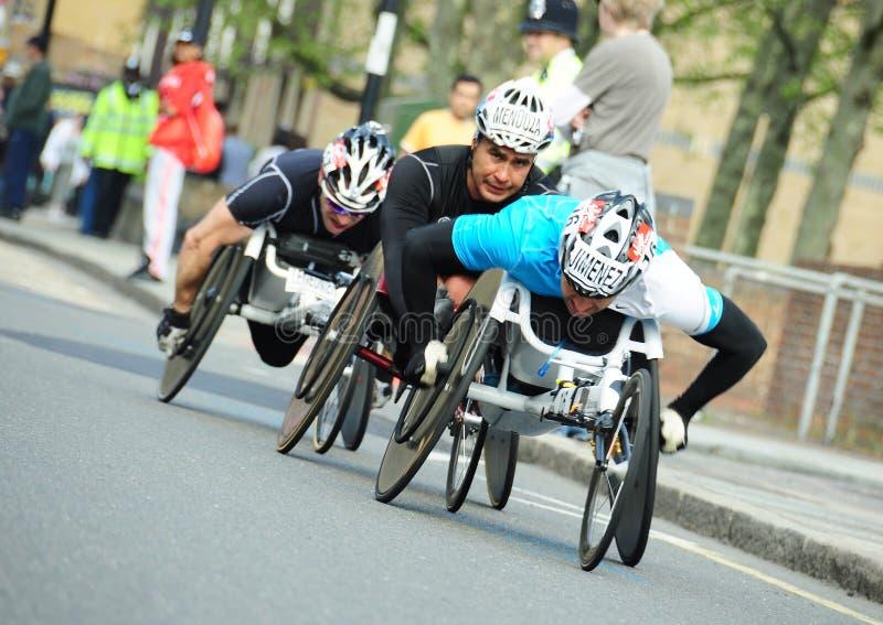 Sperrungen des London-Marathons 2011 lizenzfreie stockfotos
