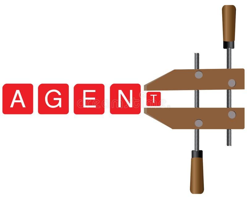 Sperrungsagenturen und -mittel lizenzfreie abbildung