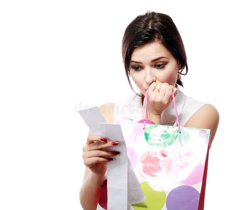 Spesa eccessiva di Shopaholic immagini stock libere da diritti