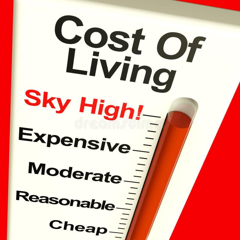 Spese di costo della vita molto in alto illustrazione vettoriale