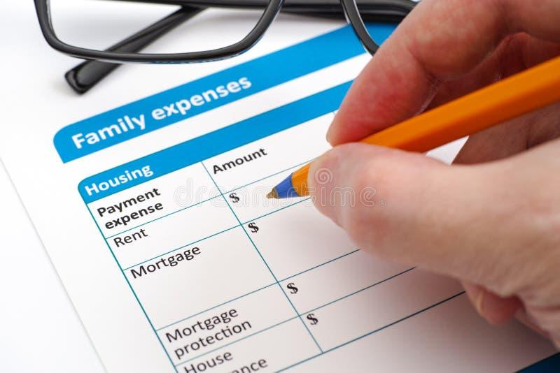 Spese di famiglia fotografie stock libere da diritti