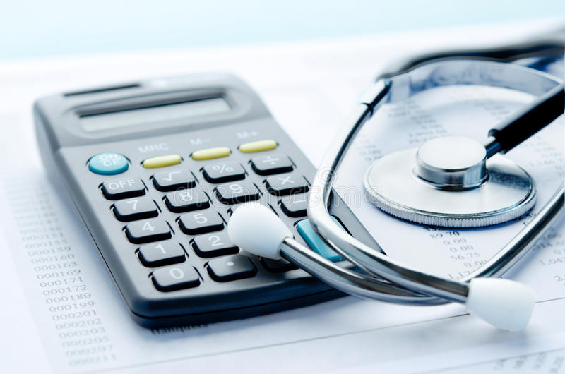 Spese sanitarie immagini stock