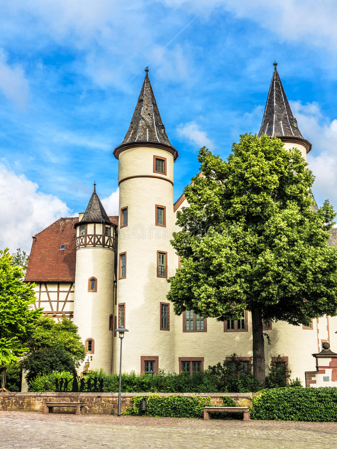 The Spessart Museum, Snow White Castle in Lohr am Main, Germany. The Spessart Museum, Snow White Castle in Lohr am Main, Bavaria, Germany royalty free stock photography
