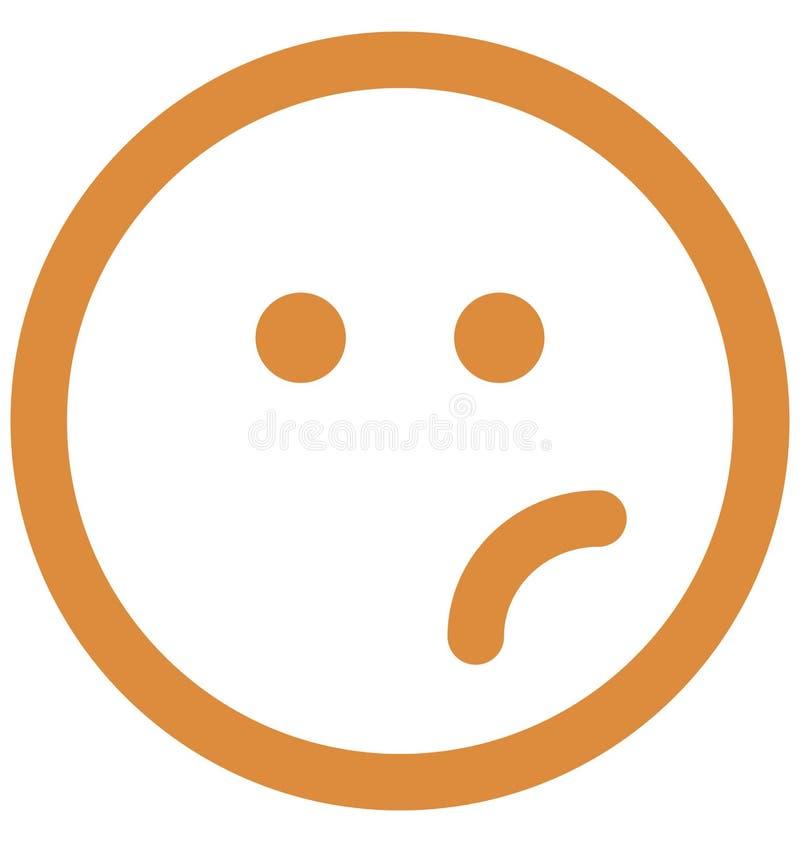 speszona twarz, emoticons Wektorowa Odosobniona ikona emoticons wektor która może modyfikować speszoną twarz redagować lub, Odizo ilustracji
