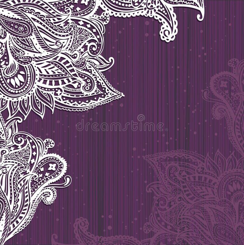 Spets- bakgrund royaltyfri illustrationer