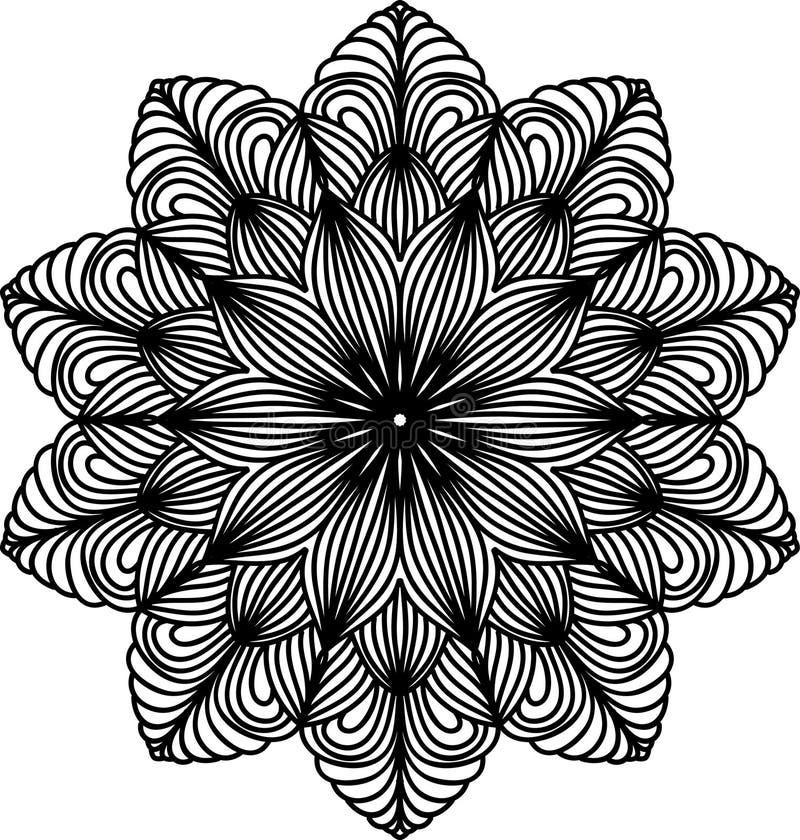 Spets- mandala Dekorativ beståndsdel för tappning Österlänningen mönstrar royaltyfri illustrationer