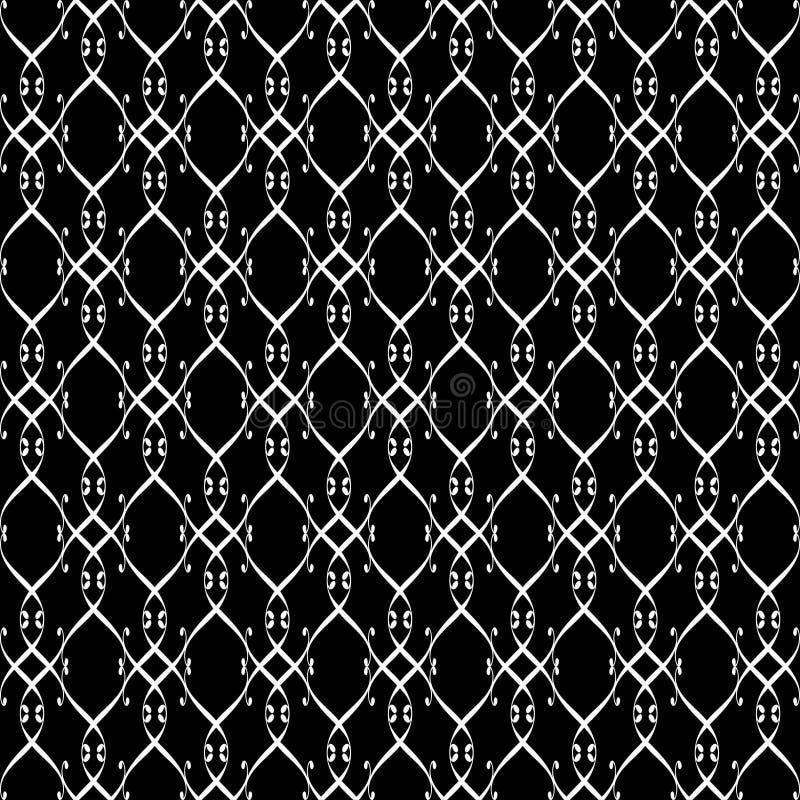 Spets- svartvit modell åtta stock illustrationer