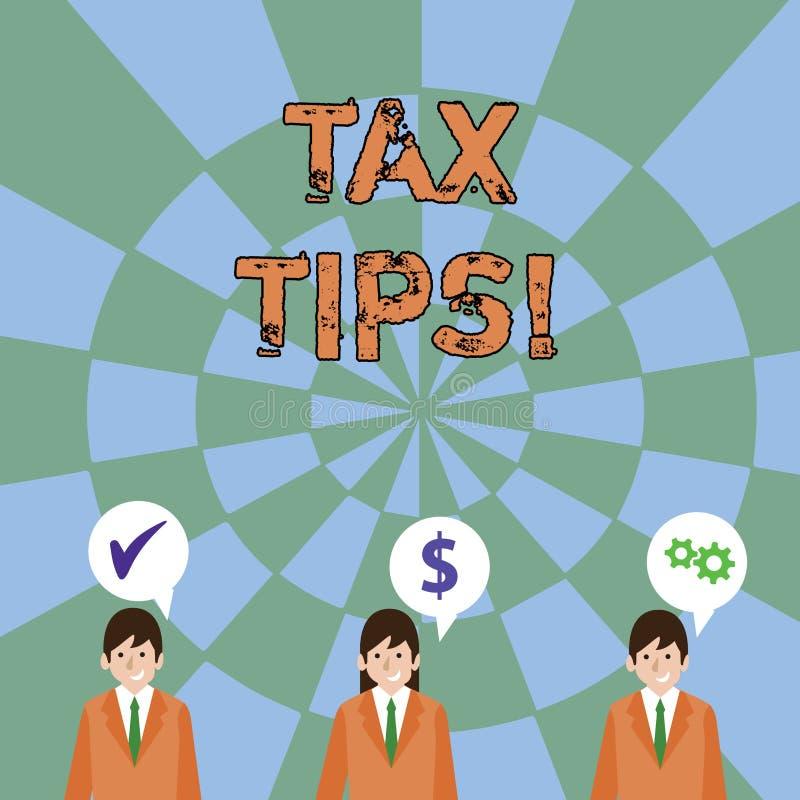 Spetsar för skatt för textteckenvisning Obligatoriskt bidrag för begreppsmässigt foto som påstår intäkt som uttaxeras av regering vektor illustrationer