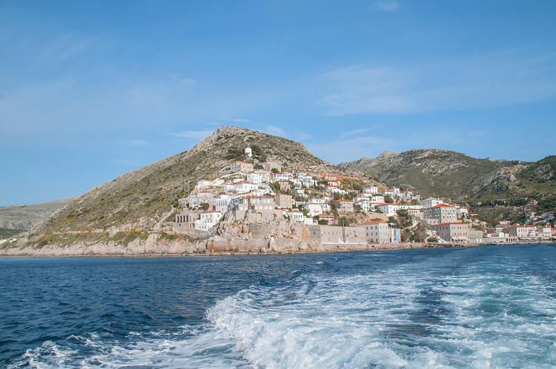 Spetseseiland, Griekenland stock afbeelding
