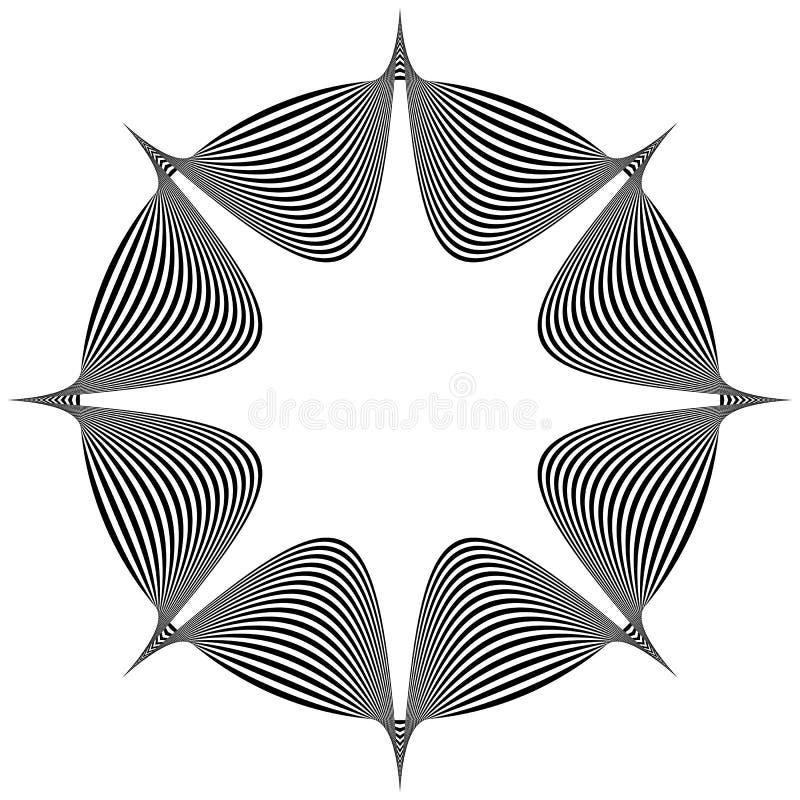 Spetsig beståndsdel för abstrakt begrepp vektor illustrationer