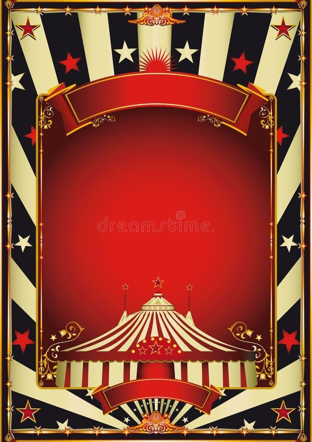 Spettacolo d'annata piacevole del circo illustrazione di stock