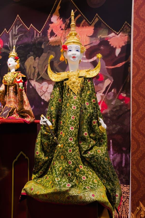 Spettacolo di burattini tailandese a Bangkok, Tailandia immagine stock