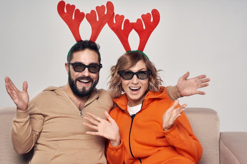 Spettacolo di film di Natale 3D immagine stock libera da diritti