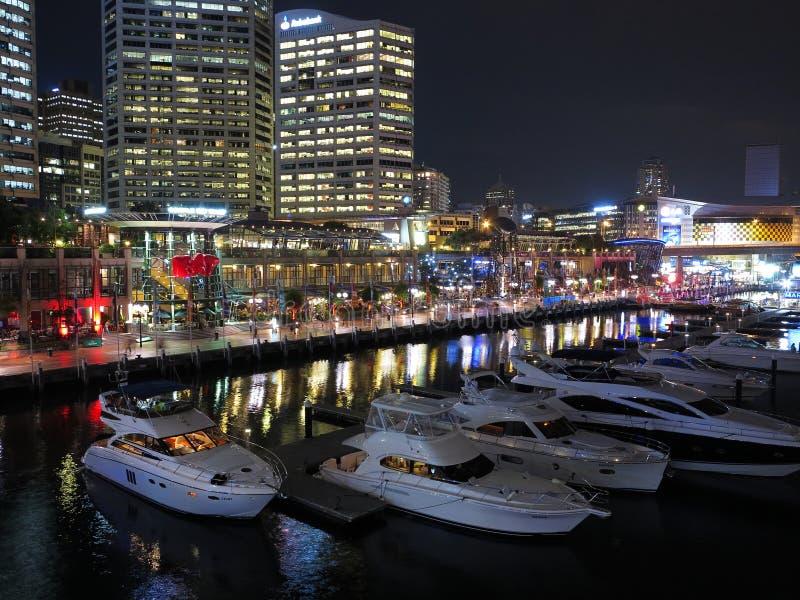 Spettacolo Sydney di lungomare di notte immagine stock