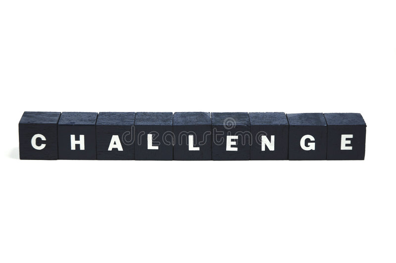 Spettate ad una sfida? fotografie stock libere da diritti