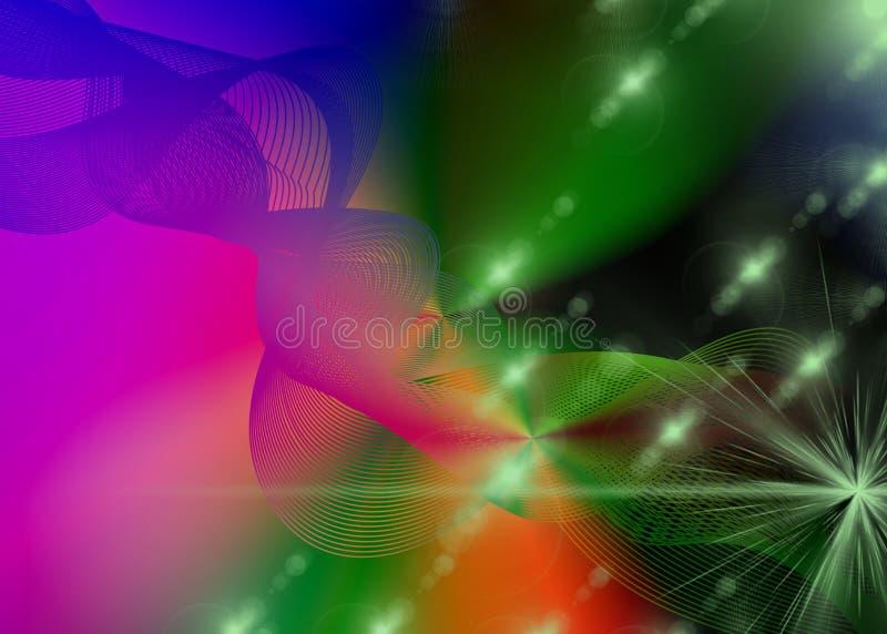 Spettro multicolore e luci brillanti illustrazione di stock