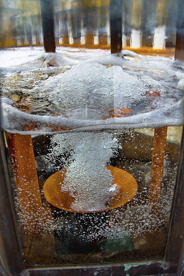 Spewing of mineral water - Marianske Lazne - Czech Republic. Spewing of mineral water - Ferdinand spring royalty free stock image