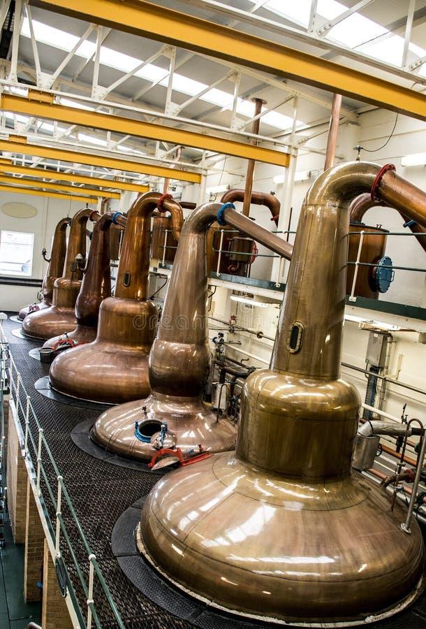Speyside escocés Escocia del rastro del whisky de la destilería foto de archivo libre de regalías
