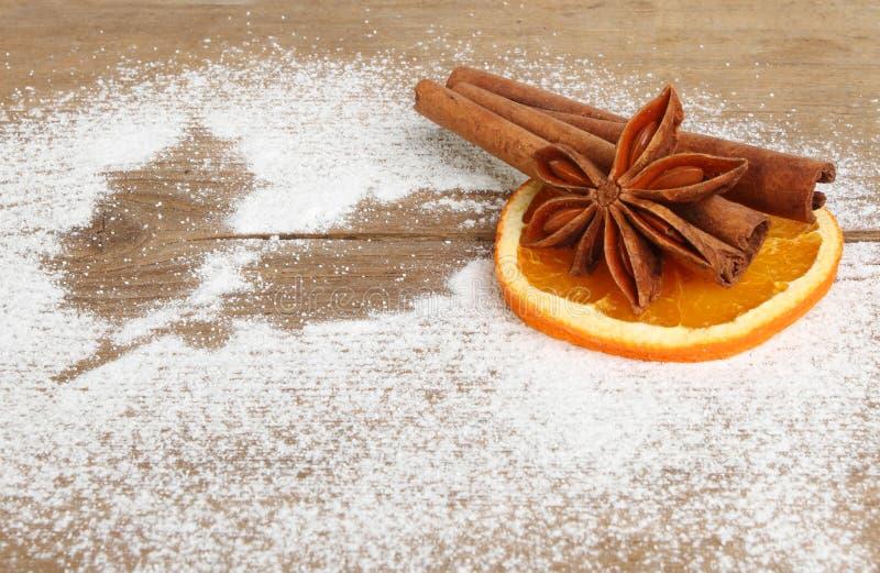 Spezia e zucchero immagine stock libera da diritti