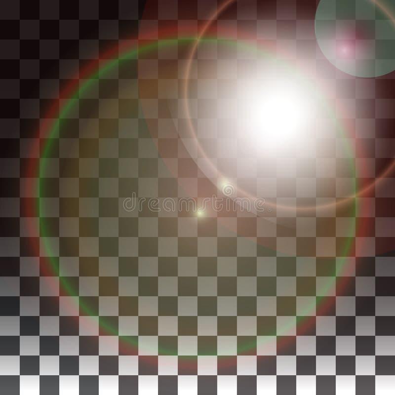 Spezialeffekte auf einem transparenten Hintergrund lizenzfreie abbildung