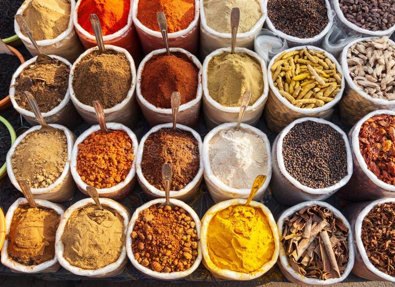 Spezie al mercato, Goa fotografia stock libera da diritti