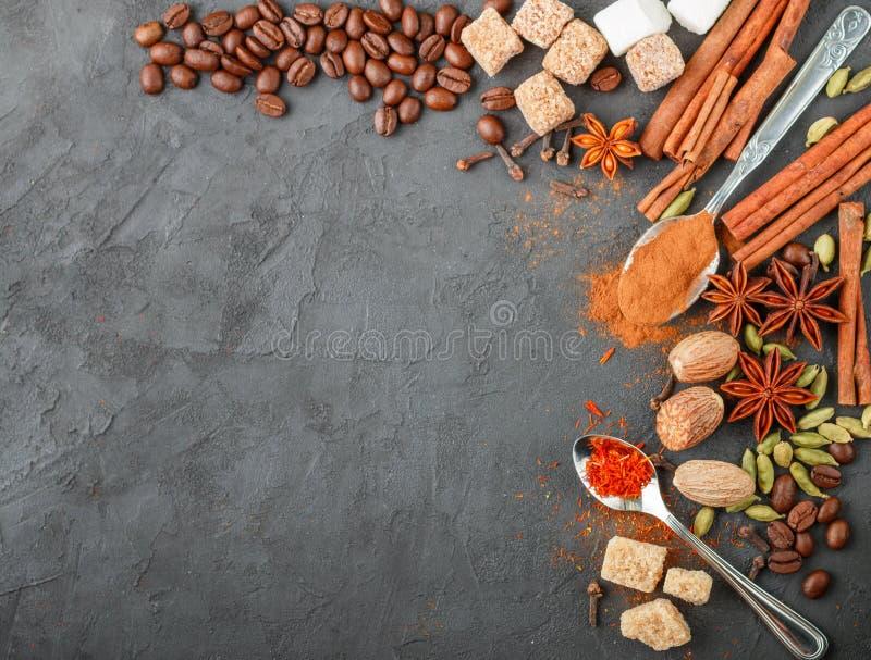Spezie e condimenti Ingredienti per i dessert e le pasticcerie dolci fotografie stock