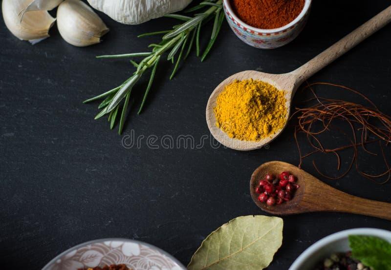 Spezie nella cucina immagine stock