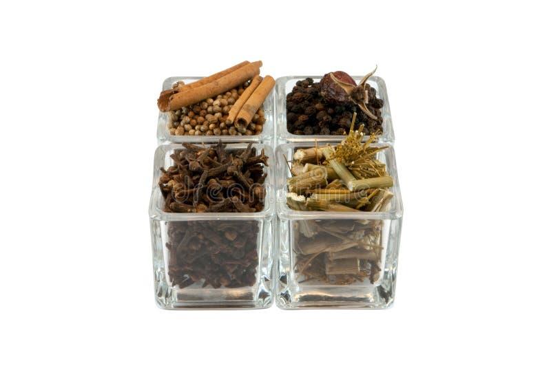 Spezie in vetro immagine stock
