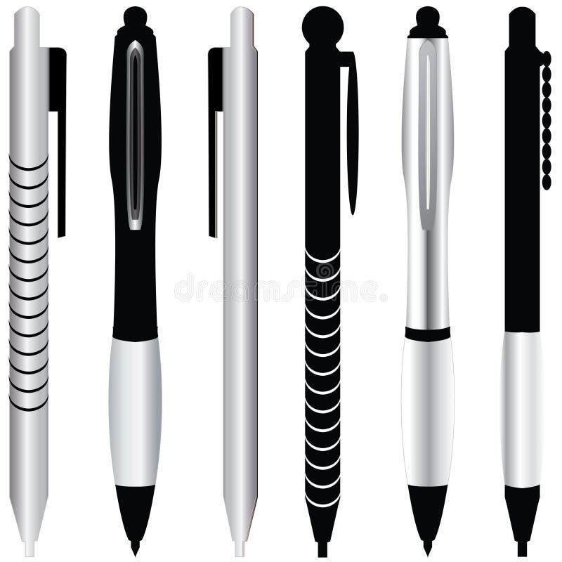 Spezielle Bleistifte stock abbildung