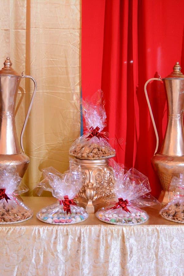 Spezielle Dekoration für Hennastrauch mit speziellen Süßstoffen stockbild