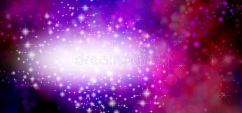 Spezielle Gelegenheit rote Glittery Bokeh-Hintergrundfahne lizenzfreie stockbilder