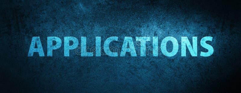Spezieller blauer Fahnenhintergrund der Anwendungen vektor abbildung