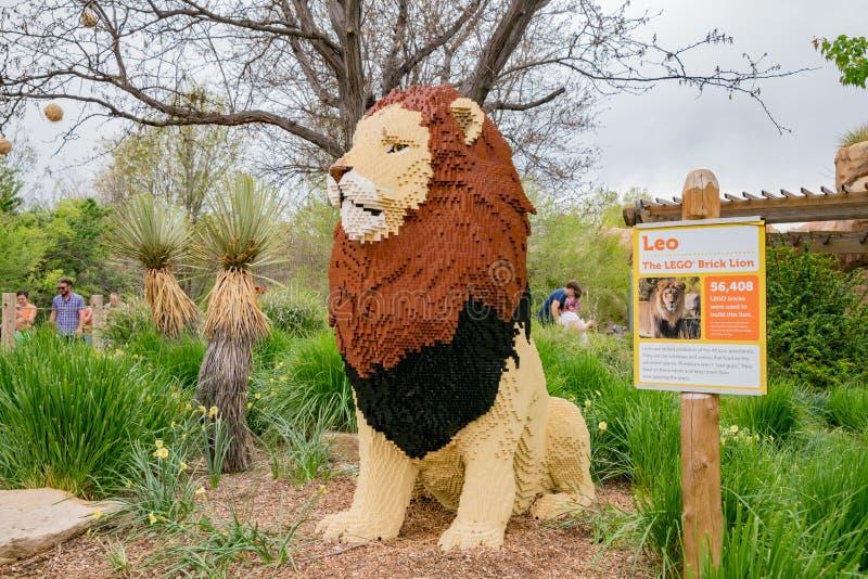 Spezieller Lego Brick Lion stockbild