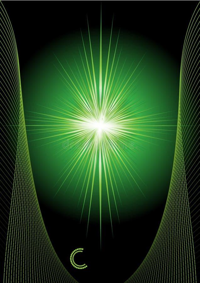 Spezieller Sonnendurchbruch (Supernova) stock abbildung