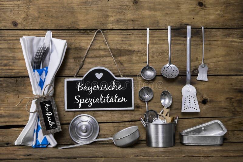 Spezielles bayerisches Lebensmittel auf dem München lizenzfreies stockbild