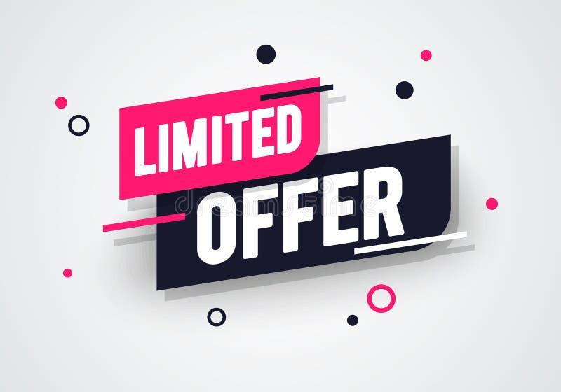 Spezielles begrenztes Angebot der Vektorillustration, Verkaufsfahne und Rabattumbauentwurf lizenzfreie abbildung